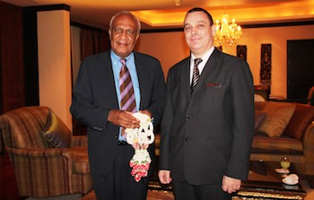 PressReleasePicture - Welcomed Minister for Foreign Affairs and Trade of Republic of Vanuatu