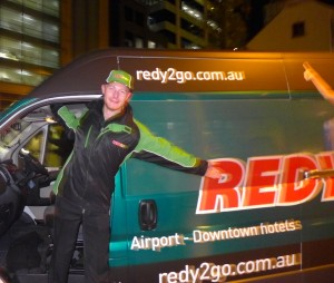 REDY2GO driver shows off one of the fleet last night