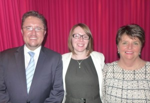 Rail experts - from left, James Dunne of Rail Plus, Ingrid Kocijan of Rail Europe, Lindy Christian of helloworld