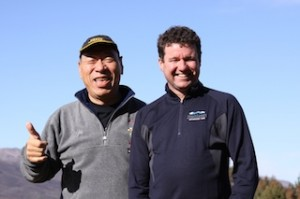 Reigning Race to the Sky Champion Monster Tajima and Highlands general manager Mike Sentch_media