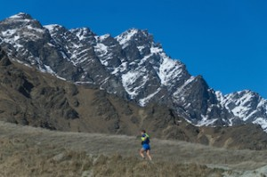 Runner Roland Meyer with The Remarkables mountain range in the background_media