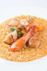 Seafood Risotto of Clam, Mussels, Lobster, Scallop & Crab