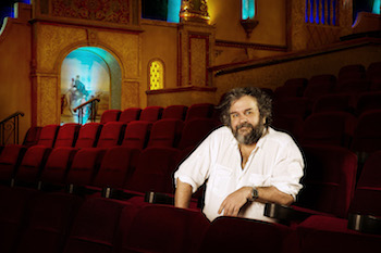 Sir Peter Jackson pictured in his Park Road Post theatre in Wellington, New Zealand, is looking forward to welcoming winners of The Hobbit Fan Fellowship Contest to Middle-earth later this year.
