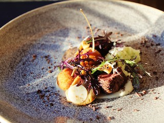 The stunning Wild Hare Loin and Confit Leg dish_media