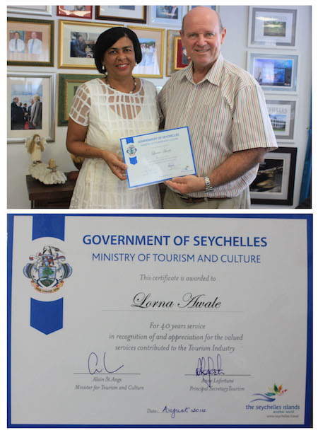 certificate of 40 years service in tourism