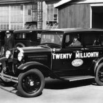 Henry Ford at wheel of the 20 millionth Ford in April 1931.FMC