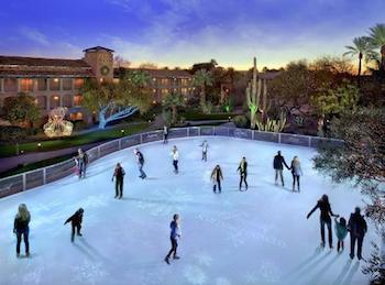 The Fairmont Scottsdale Princess' Desert Ice Skating Rink debuts on November 20, 2014 and is open to the public through Super Bowl Sunday, February 1, 2015.