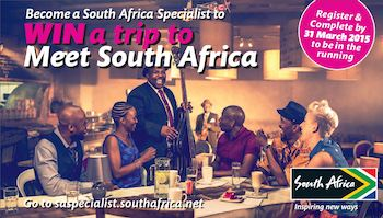 Become a South Africa Specialist to win a trip to Meet South Africa