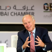 Sir Tim Clark speaking at the Africa Global Business Forum 2014 earlier today
