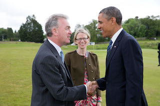 Ferghal Purcell with US President Barack Obama