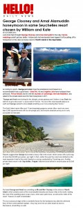 George Clooney and Amal Alamuddin honeymoon in same Seychelles resort chosen by William and Kate