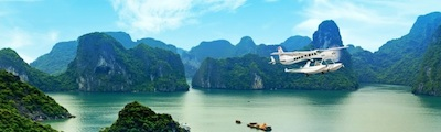 Hai Au Aviation flies American-made seaplanes between Hanoi and Halong Bay