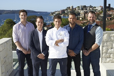 InterContinental Sydney Double Bay¹s confirmed culinary residences with Executive Chef Julien Pouteau  - Luke Madsen Adam Abrams Julien Pouteau Yoni Ka Chris Matters