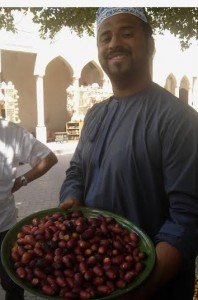Omani dates served with a smile