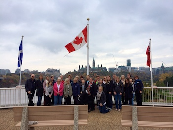 Scenic famil group at Parliament Hill, Ottawa