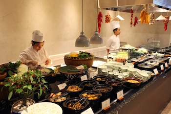 Spices Garden now features a live cooking station along with traditional Hanoian dishes