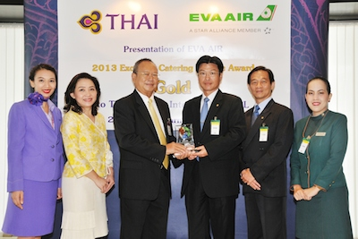 TG 162 Photo News THAI Receives Excellent Catering Service Award Gold 2013