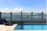 The Hotel Jen Hong Kong rooftop pool with stunning harbour views