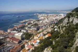 The view from the rock of Gibraltar