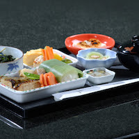 Emirates serves its First Class and Business Class menus on specially designed crockery on its three Japanese routes