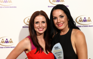 MEA Award_Jess Heaslip and Karlah van Arend_SOP Business Events