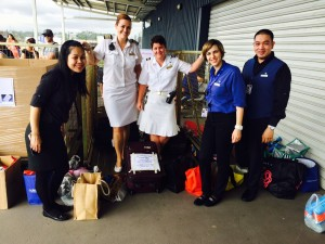 Pacific Dawn crew collect donations from guests ahead of cruise to Vanuatu