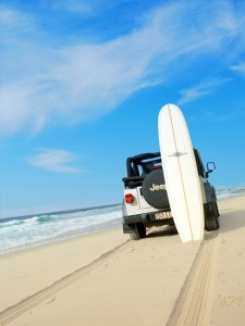 Beach drives on the Sunshine Coast