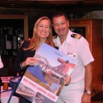 Carnival Cruise Line VP Jennifer Vandekreeke and Carnival Legend Hotel Director Ron Ness