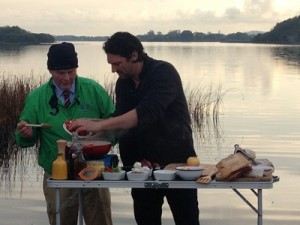 Colin cooks famous Fermanagh Bacon