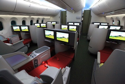 Ethiopian has fitted lie flats in its B787 Dreamliner