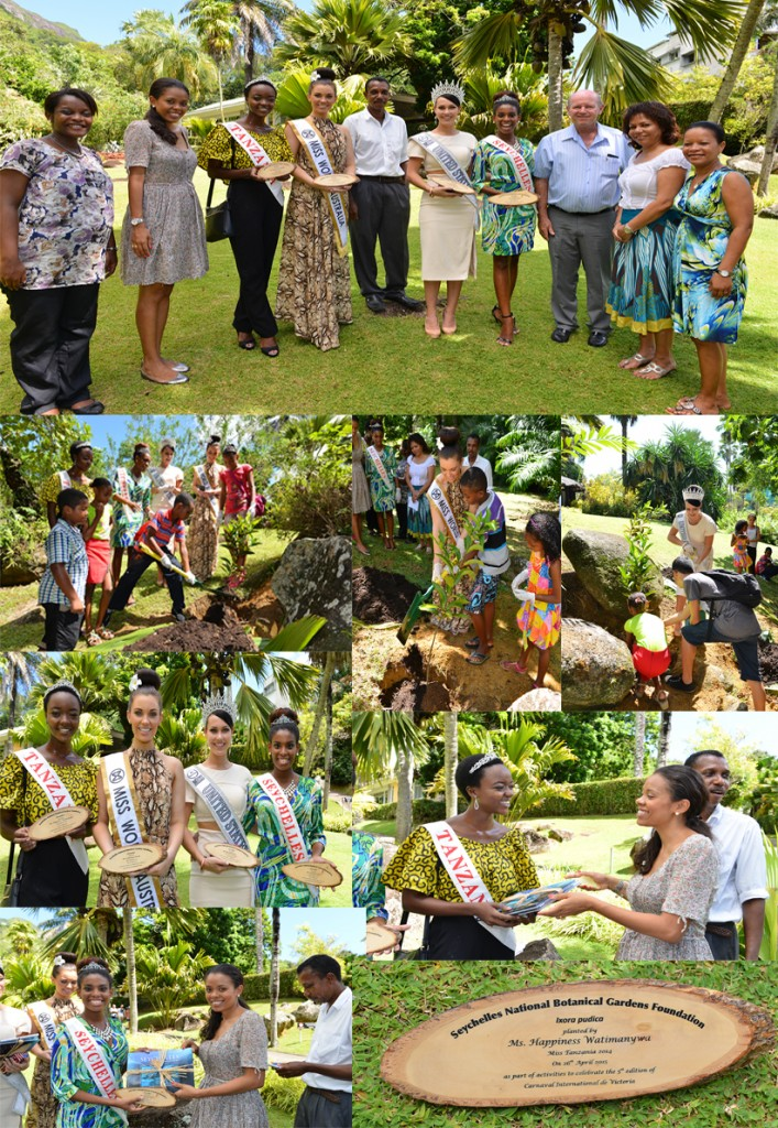 Miss World USA, Australia, Tanzania , Seychelles Tree Planting