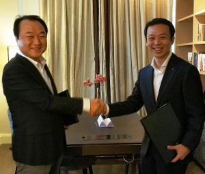 Mr Yong Sung Jeon and Mr Lee Chee Koon