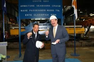 Seabourn Encore Steel Cutting Ceremony