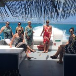 Tahiti Tourisme famil group on catamaran