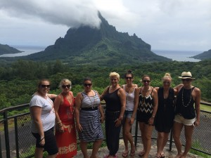 Tahiti Tourisme famil group on tour