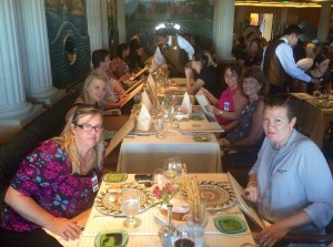 Travel agents at Sabatini's lunch on Diamond Princess