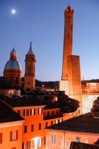 Bologna --  Two Towers (Due Torri) at dusk