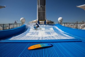 Newly revitalised Explorer of the Seas in Southampton for the summer season. Flowrider