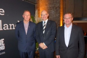 From left: Tony Saunders, Tourism NZ general manager Australia_ Chris Seed, NZ High Commissioner to Australia_ and Kevin Bowler, chief executive of Tourism NZ.