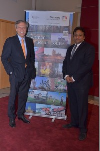 German Ambassador Michael Steiner with Romit Theophilus, Director Sales & Marketing GNTO India (1)