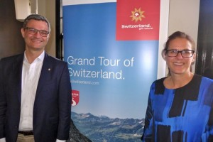 Mark Wettstein, Switzerland Tourism Director Australia & New Zealand, and Birgit Weingartner, Switzerland Tourism Marketing Executive Australia and New Zealand