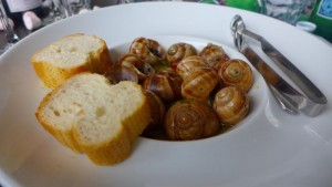 Plate of escargots (snails) at The Little Snail