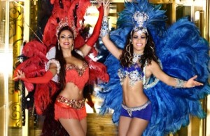 Samba dancers perform at Fogueira Restaurant