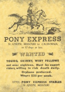 USA Pony Express job ad.civilwardaily