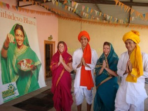 tourists enjoy dressing in local attires