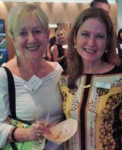 Jill Varley and Bitsy Kelley at a recent Outrigger function in Sydney