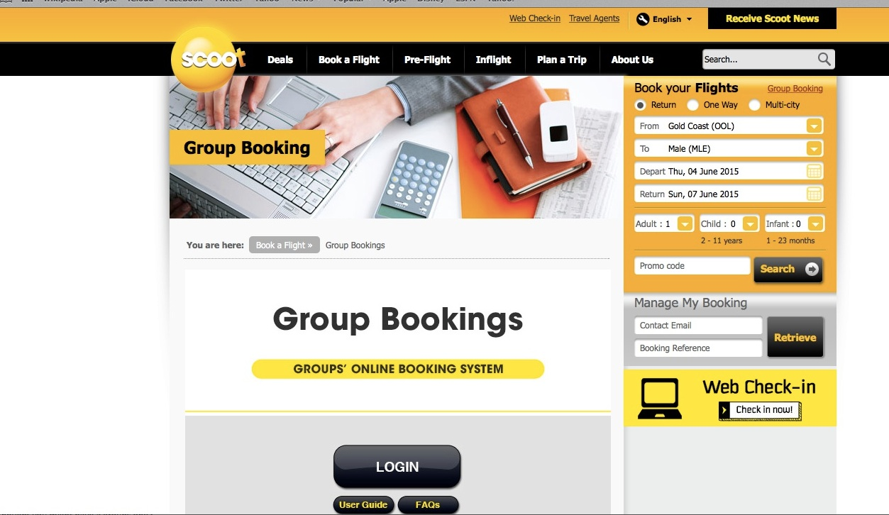 scoot web check in online