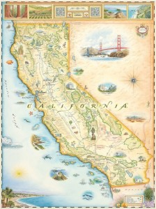 California - The Golden State - by Xplorer Maps (PRNewsFoto/Xplorer Maps)