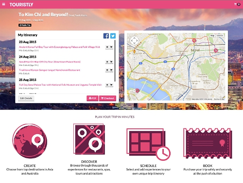 Touristly trip planner