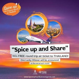 "TCEB join forces with Thai Airways to launch ""Spice Up and Share"" campaign (PRNewsFoto/Thailand Convention and ...)"